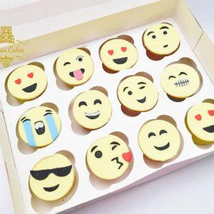 Personalised Emoji Cupcakes